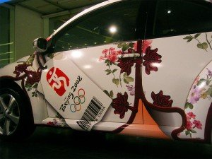 Decorated China Olympics car