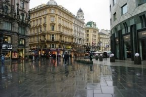 Vienna, Austria in the rain