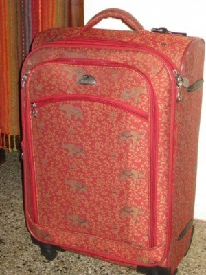 new luggage, complete with elephants