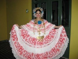 Traditional Panamanian Pollera
