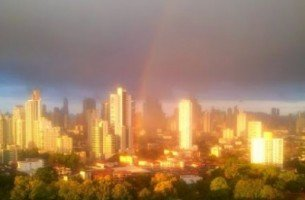 rainbow over Panama City, Panama