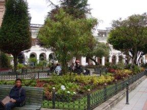 park in Cuenca, Ecuador