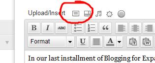 upload insert button