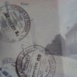 visa stamps in a US passport