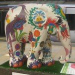 An elephant in Paddington Station, London
