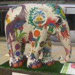 An elephant in Paddington Station, London