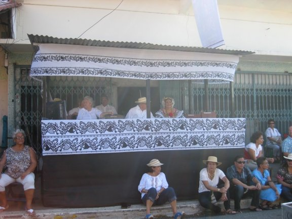 viewing stand at Mil Pollera parade