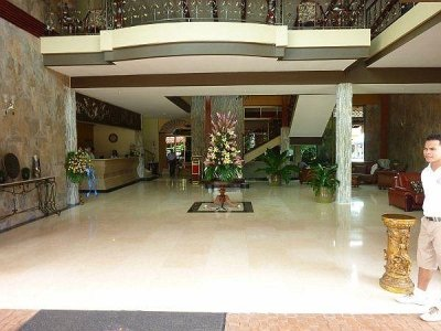 lobby of the Hotel Gran Azuero