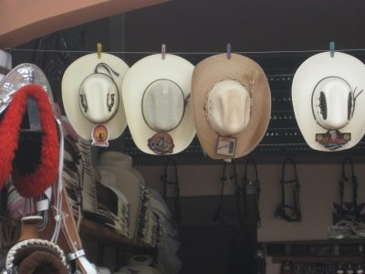 Azuero Fair hats and leather goods