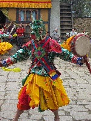Tsechu Dancer in Domkhar, Bhutan