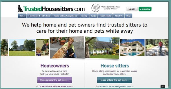 Trusted Housesitters website