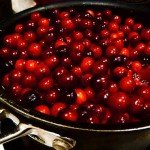 image of cranberries cooking