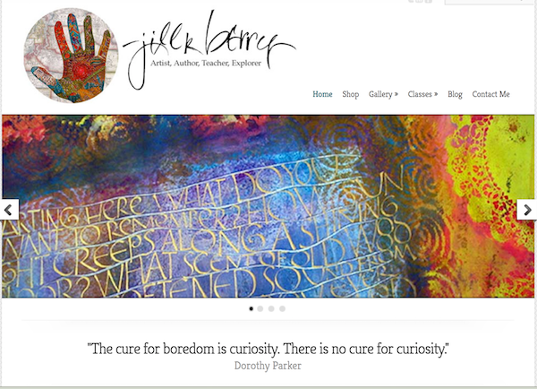 Artist Jill Berry's online presence
