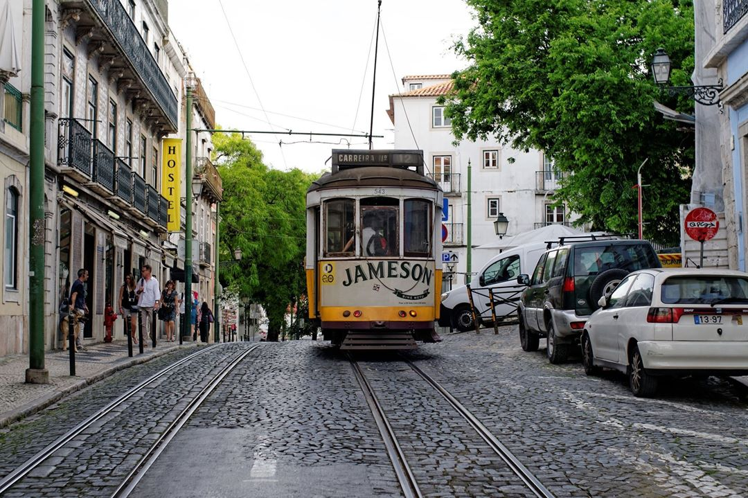 The tram in old Lisbon Would you ride it? lisbonhellip