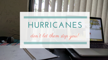 don't let a little thing like a hurricane stop your portable career